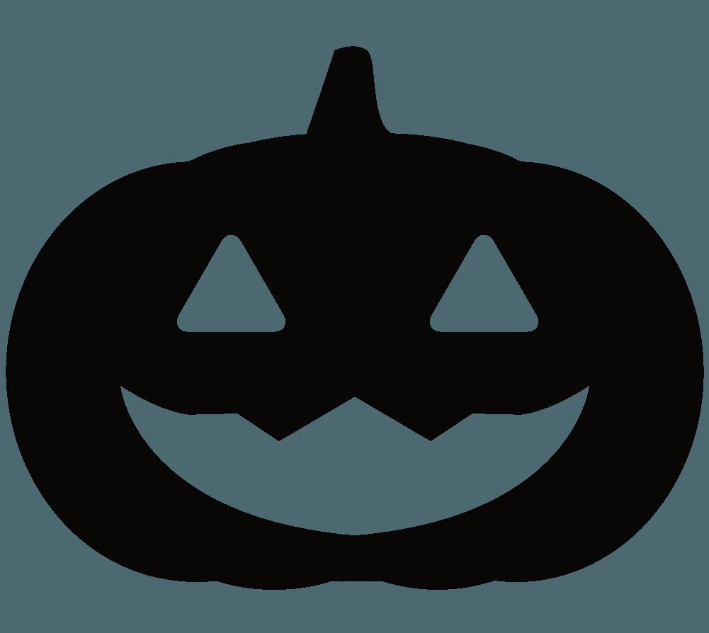 ハロウィンのかぼちゃのシルエットイラスト