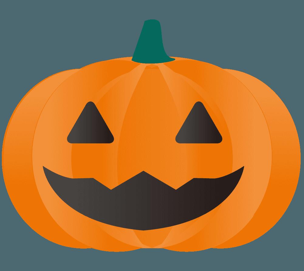 くりぬかれたハロウィンかぼちゃイラスト