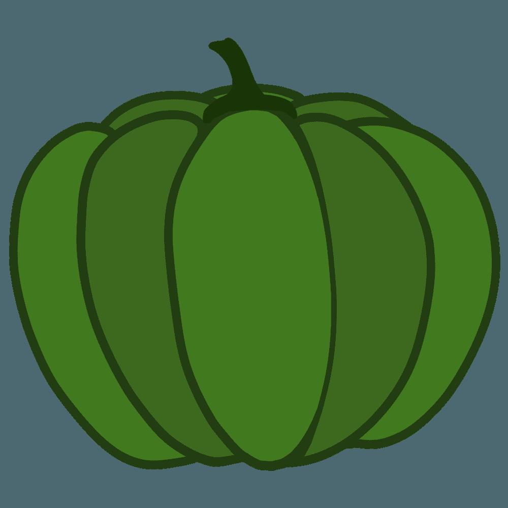 普通のかぼちゃかぼちゃイラスト