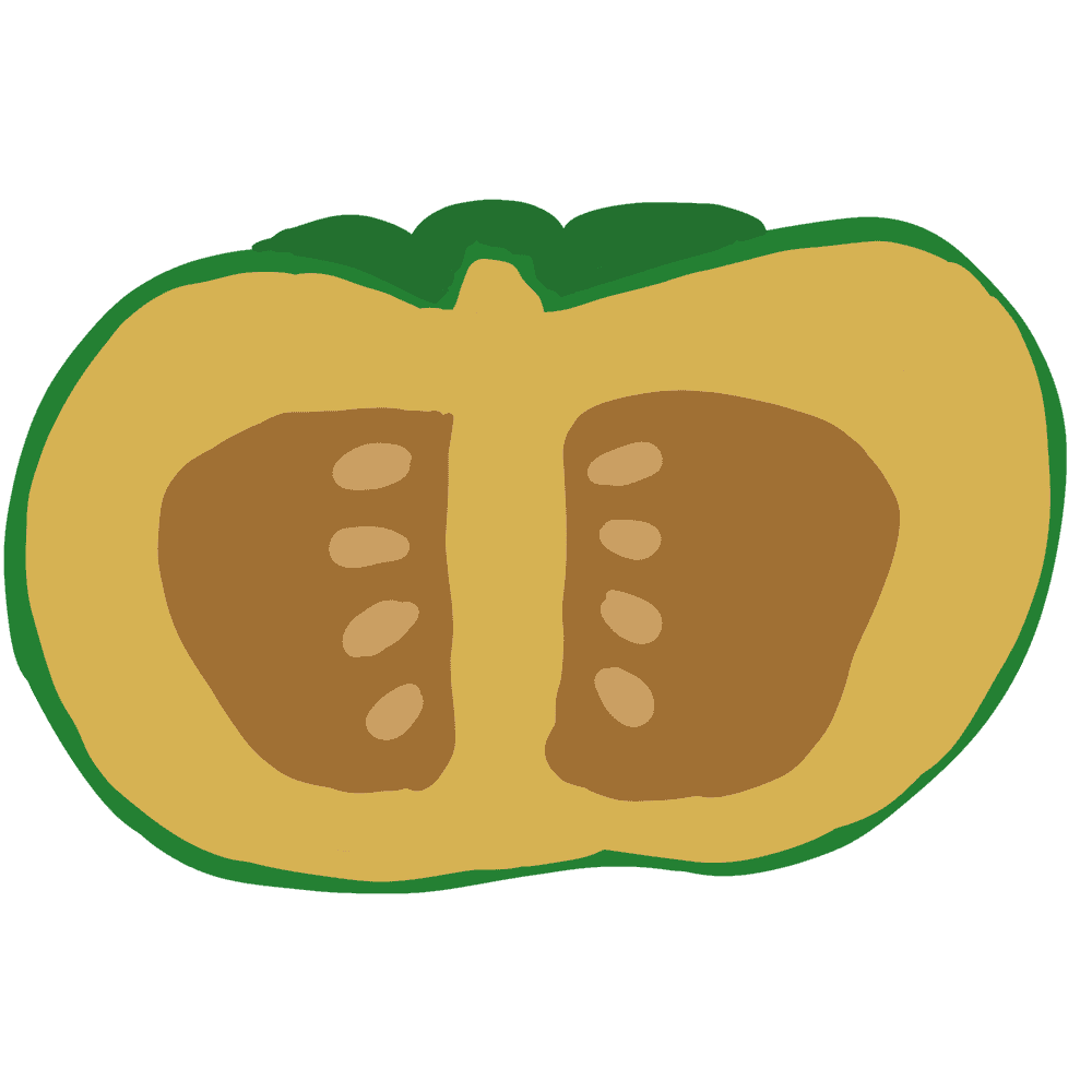半分のかぼちゃイラスト