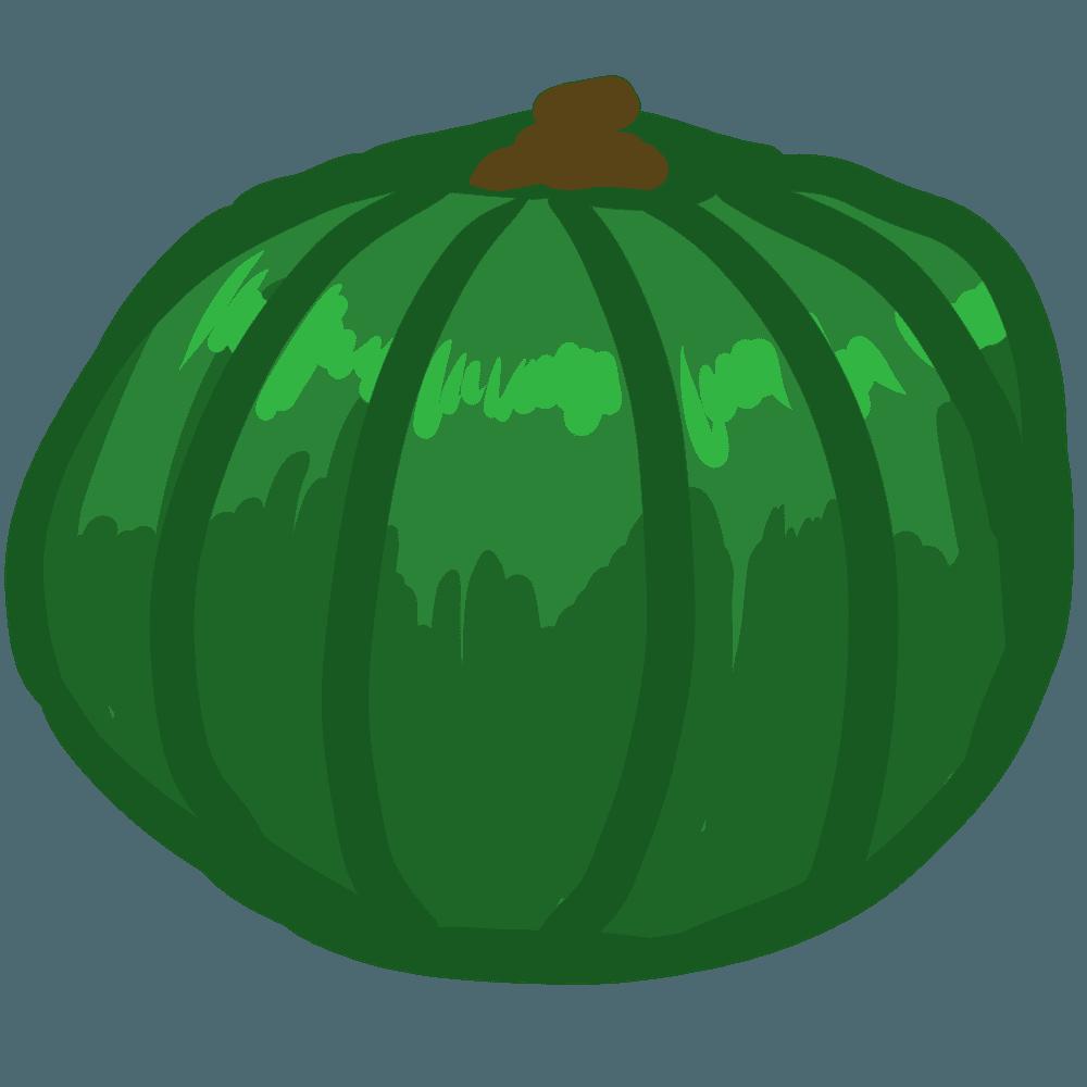 ベクター風のかぼちゃイラスト