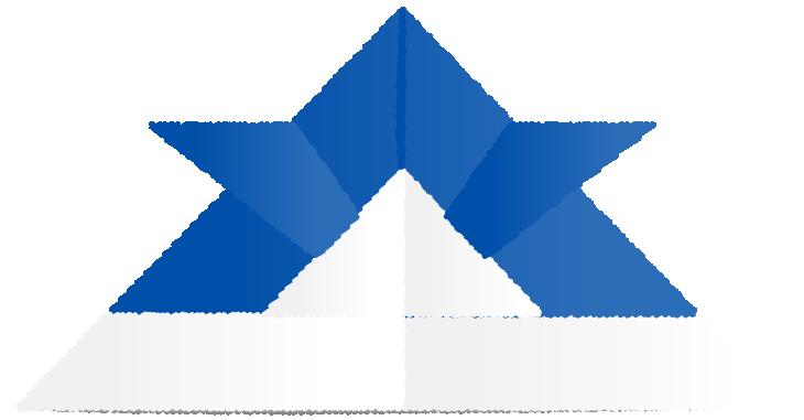 青い折り紙兜