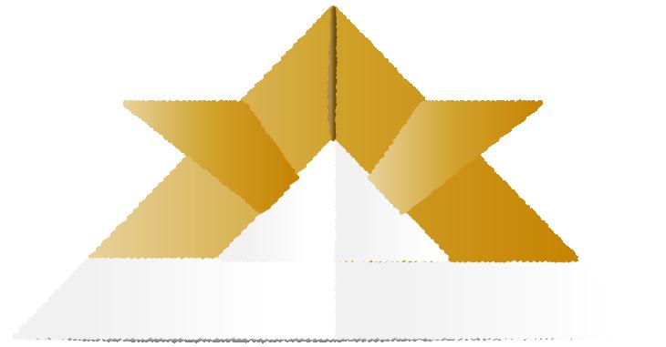 金色折り紙兜