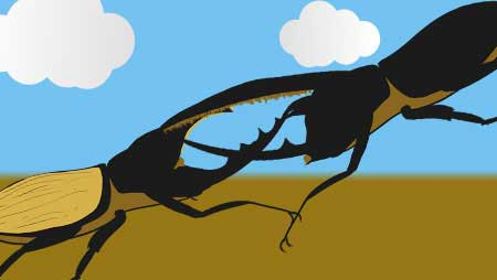 カブトムシイラスト - かっこいい昆虫の無料素材集☆
