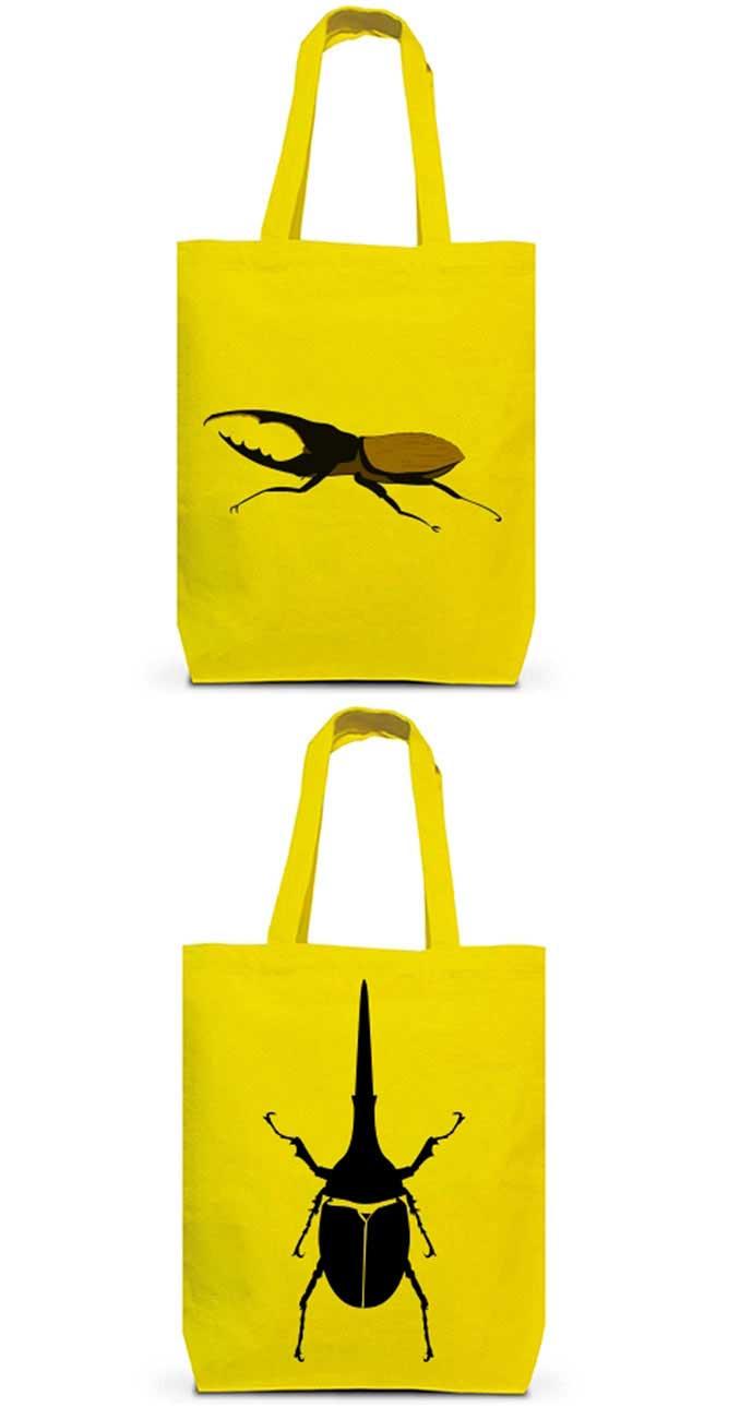 ヘラクレスオオカブトムシのカラートートバッグ