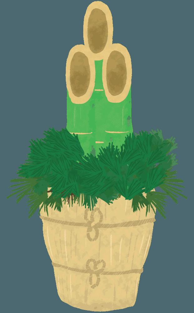 ごく普通の門松のイラスト