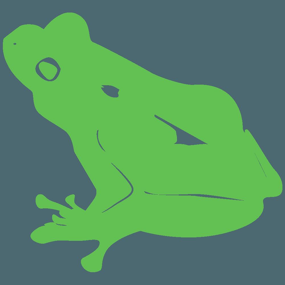 普通のカエルのシルエットイラスト