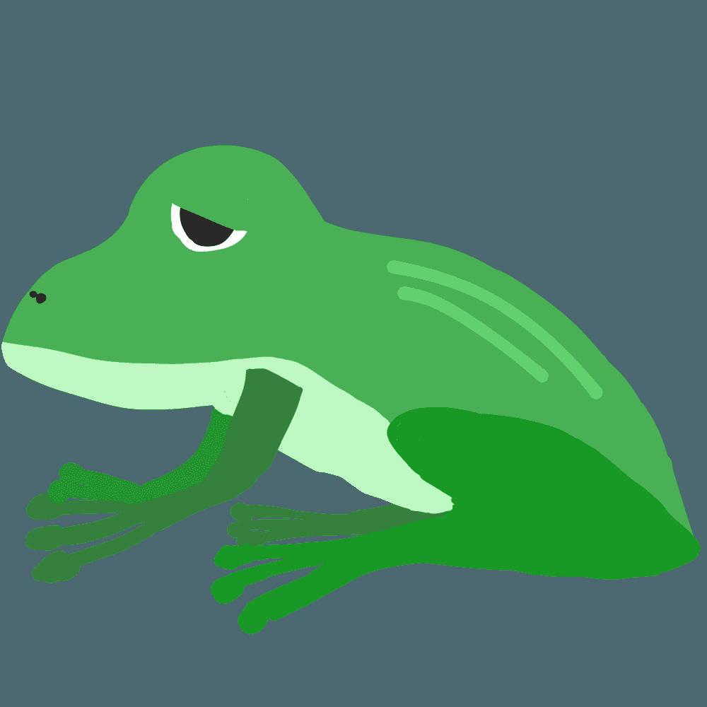 眠そうな蛙イラスト