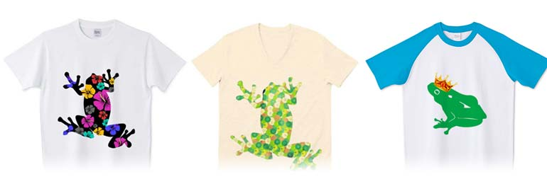 チコデザの可愛いカエルTシャツ