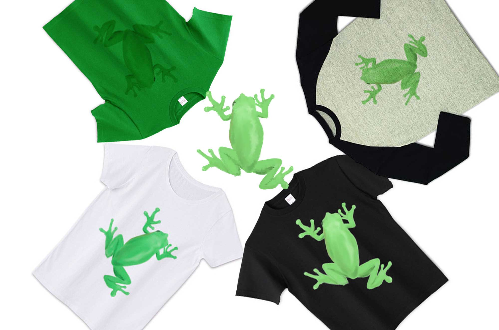 カエルTシャツ - 可愛い蛙のメンズ・レディース