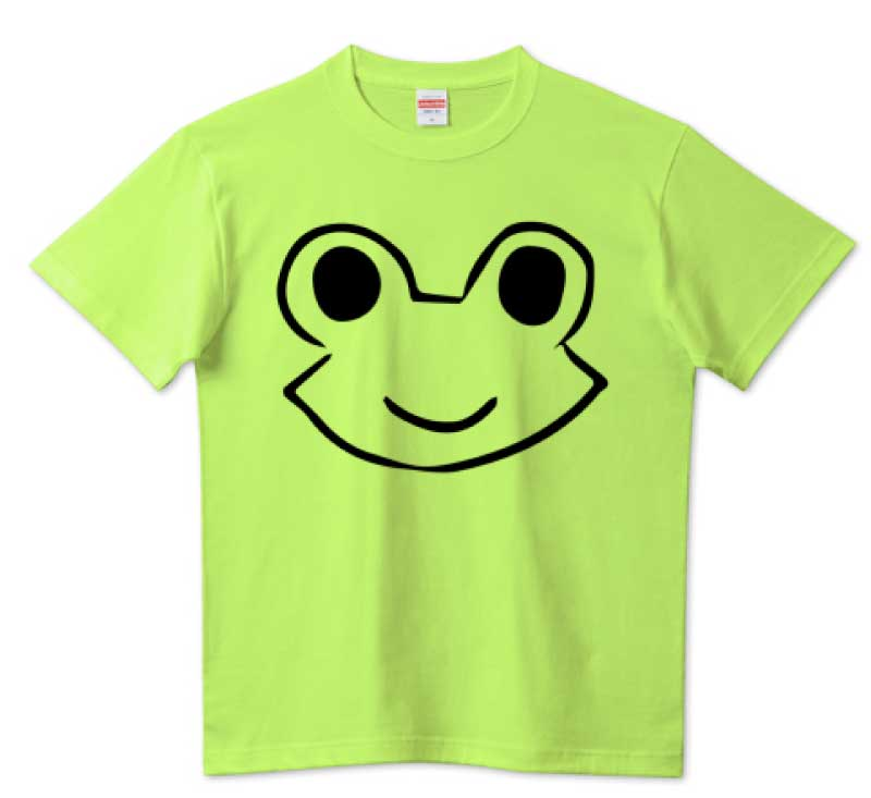 ニコッとカエルTシャツ