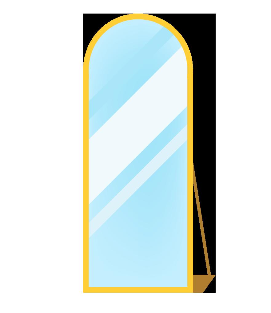 置き鏡のイラスト