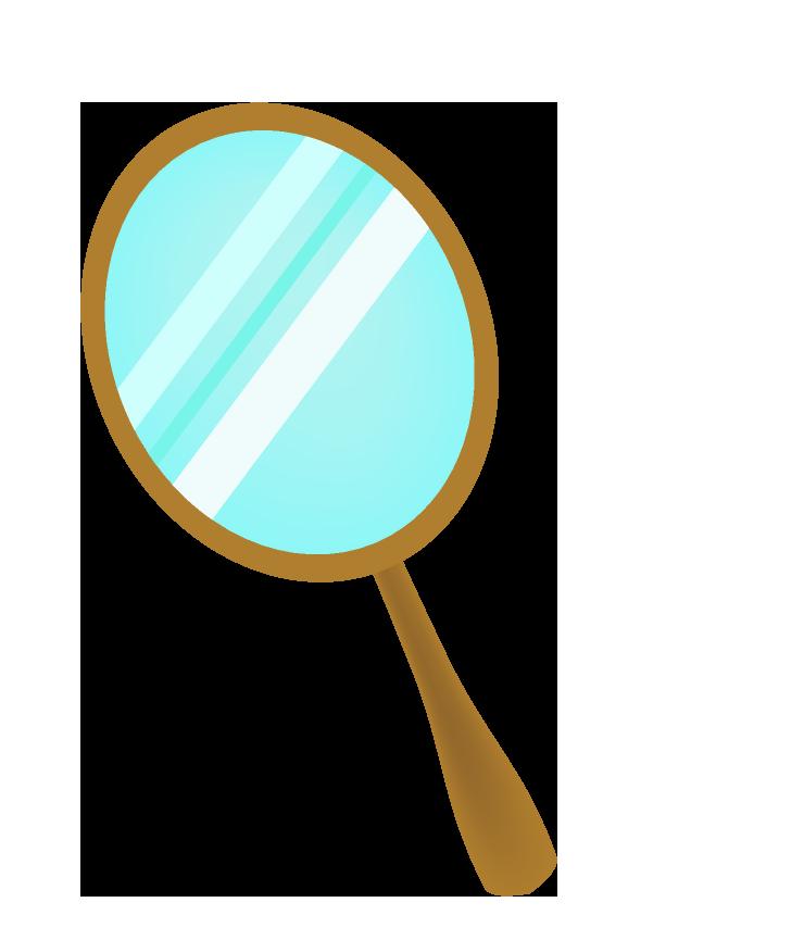 手鏡のイラスト