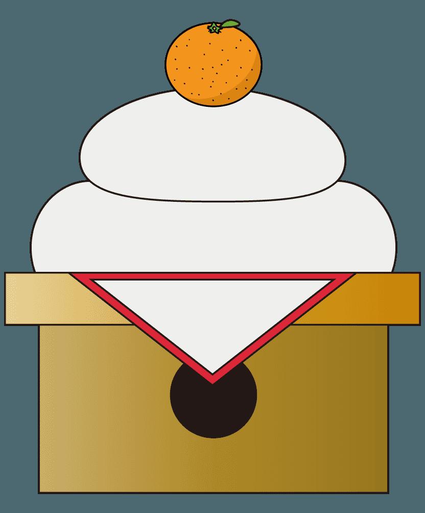 三方(台座)にのった鏡餅のイラスト