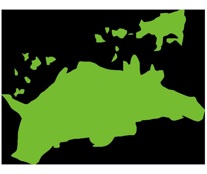 香川の大陸(地図)イラスト
