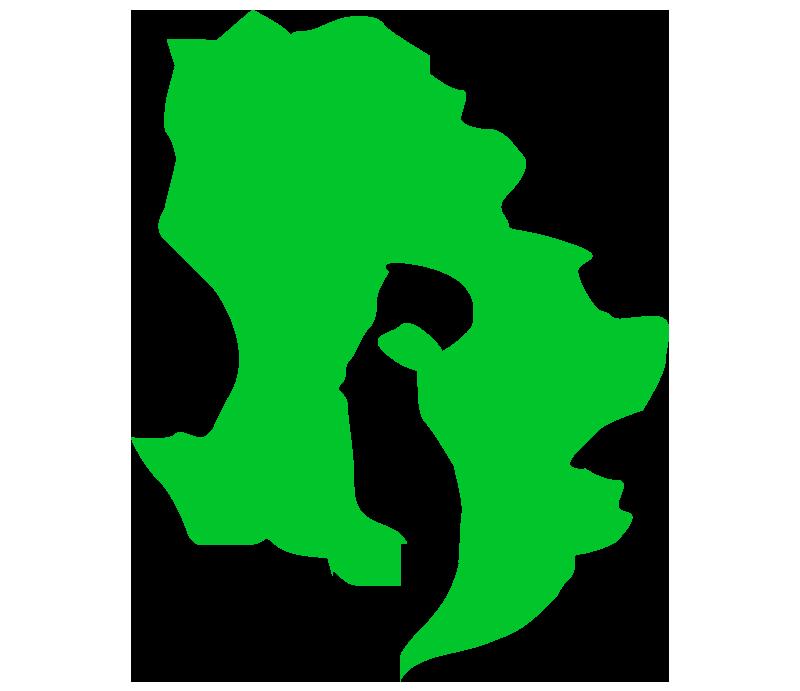 鹿児島の地図イラスト