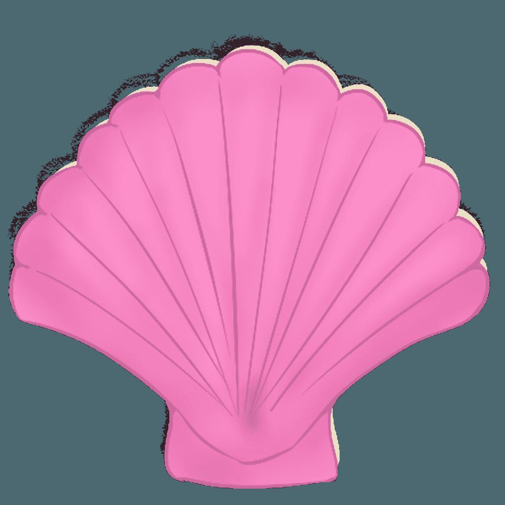 ピンク色の可愛いホタテイラスト