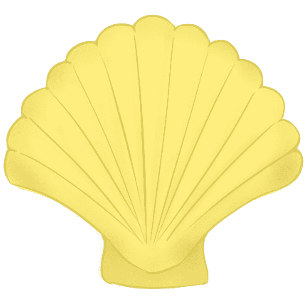 黄色いホタテ貝イラスト