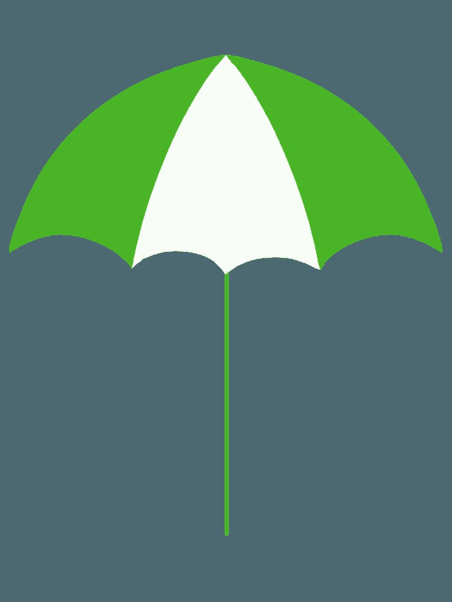 日除けパラソル緑イラスト
