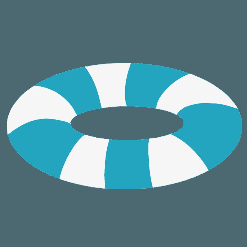 青い浮き輪のイラスト