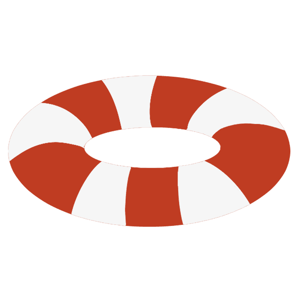 赤い浮き輪のイラスト