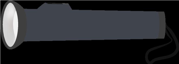 黒い懐中電灯のイラスト(小型)