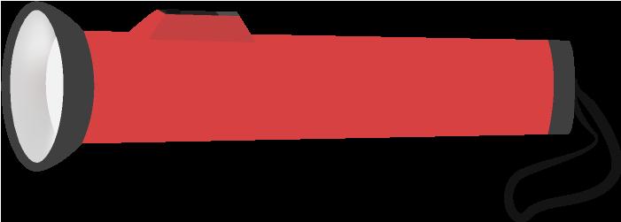 赤い懐中電灯のイラスト(小型)