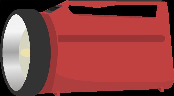 大型の懐中電灯のイラスト