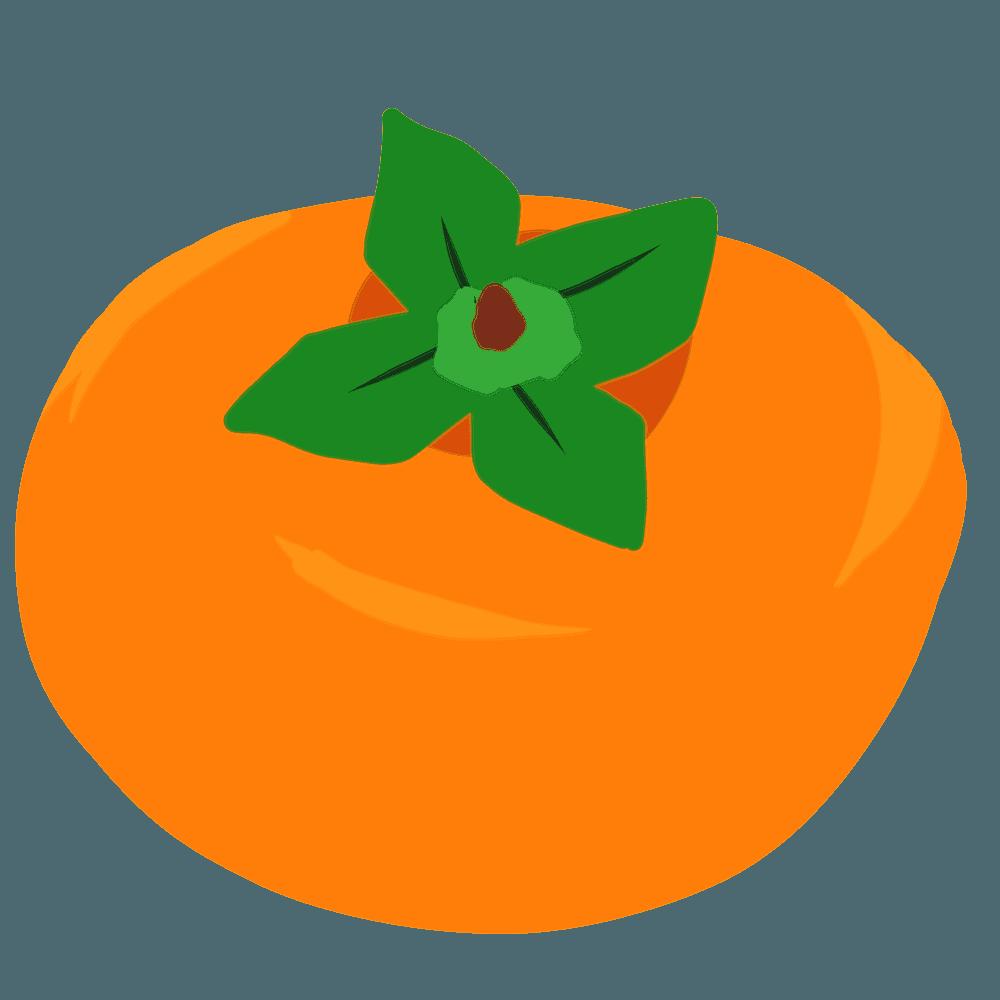 かわいい柿イラスト