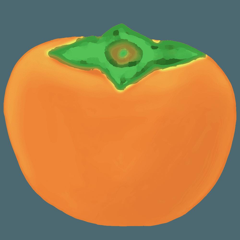 柔らかい感じの柿イラスト