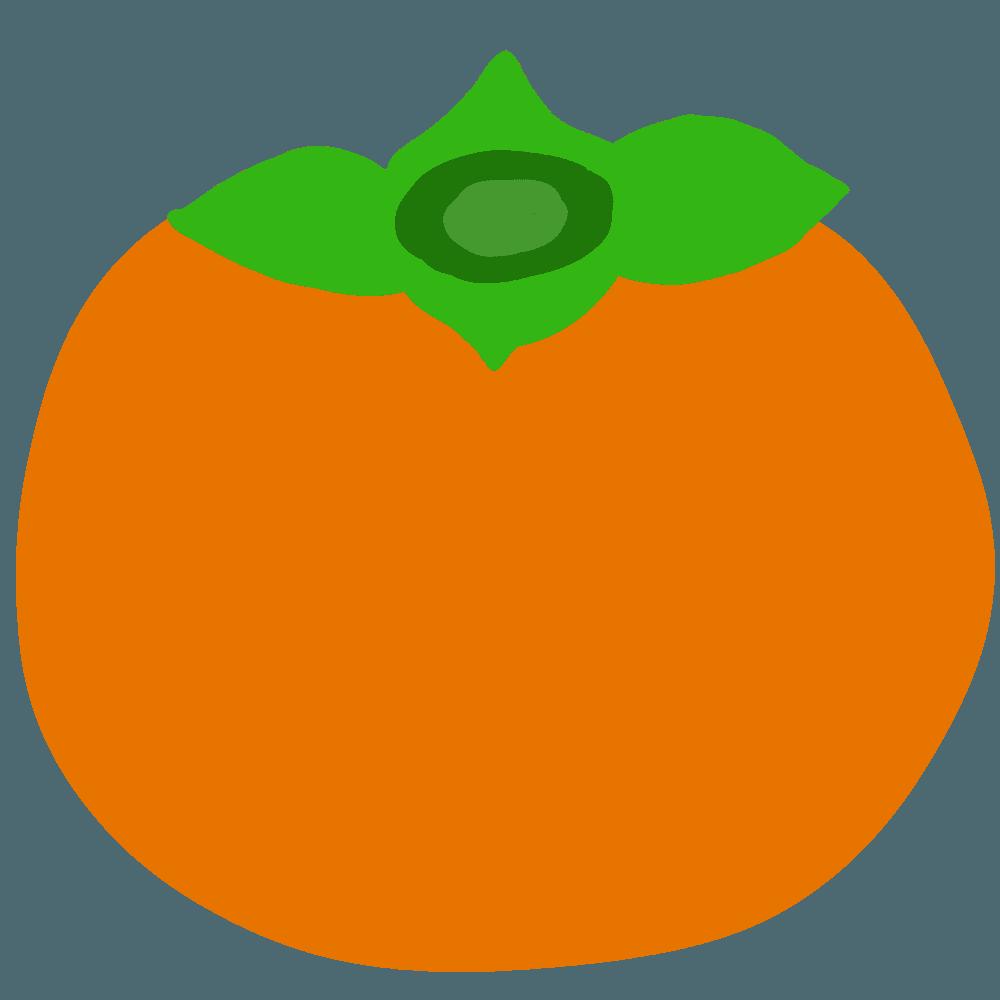 ベクター風の柿イラスト