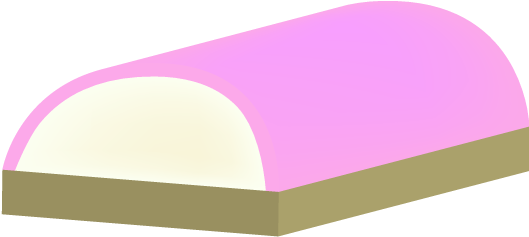 ピンクのかまぼこのイラスト