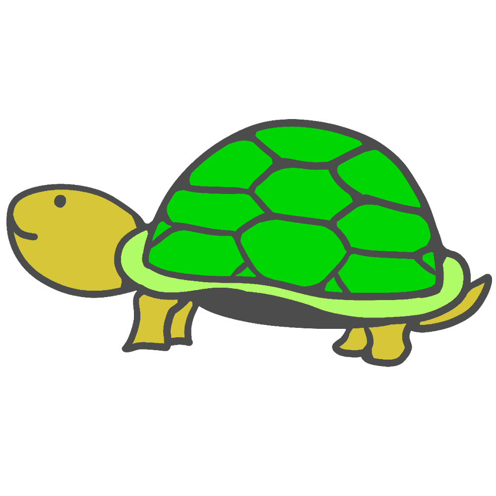 上をむく亀イラスト