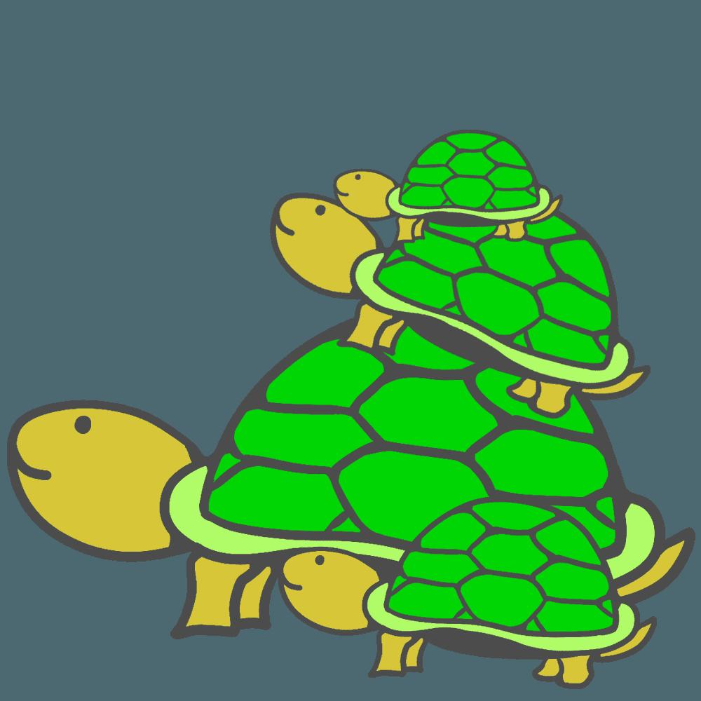 可愛い亀の家族イラスト