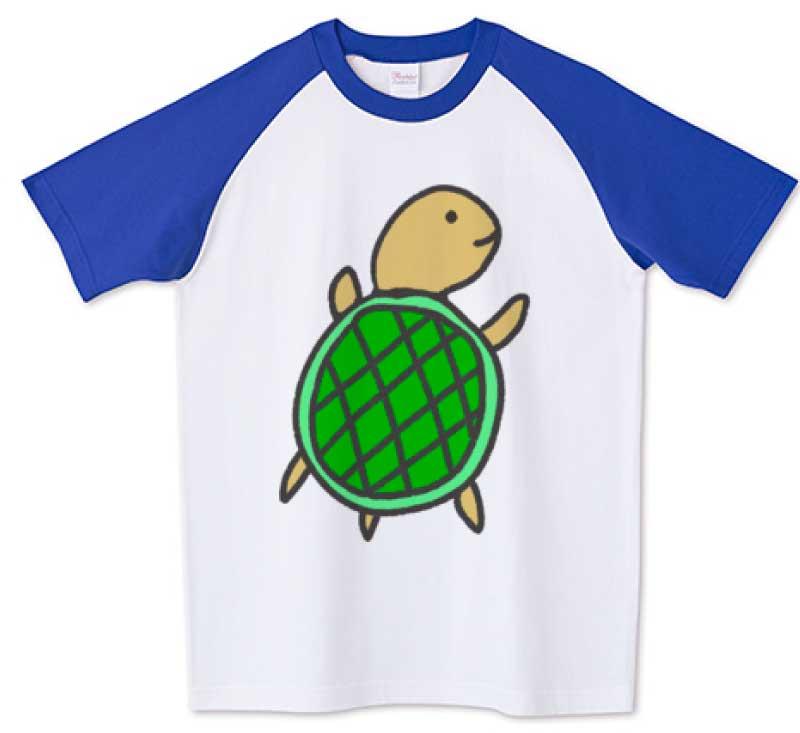 かわいい亀さんラグランTシャツ