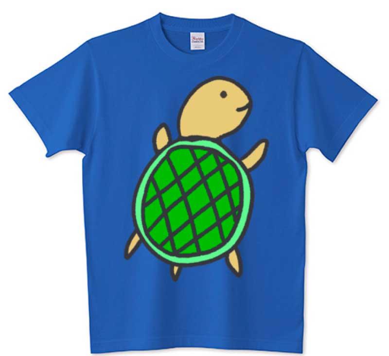 かわいい亀Tシャツ(ブルー)