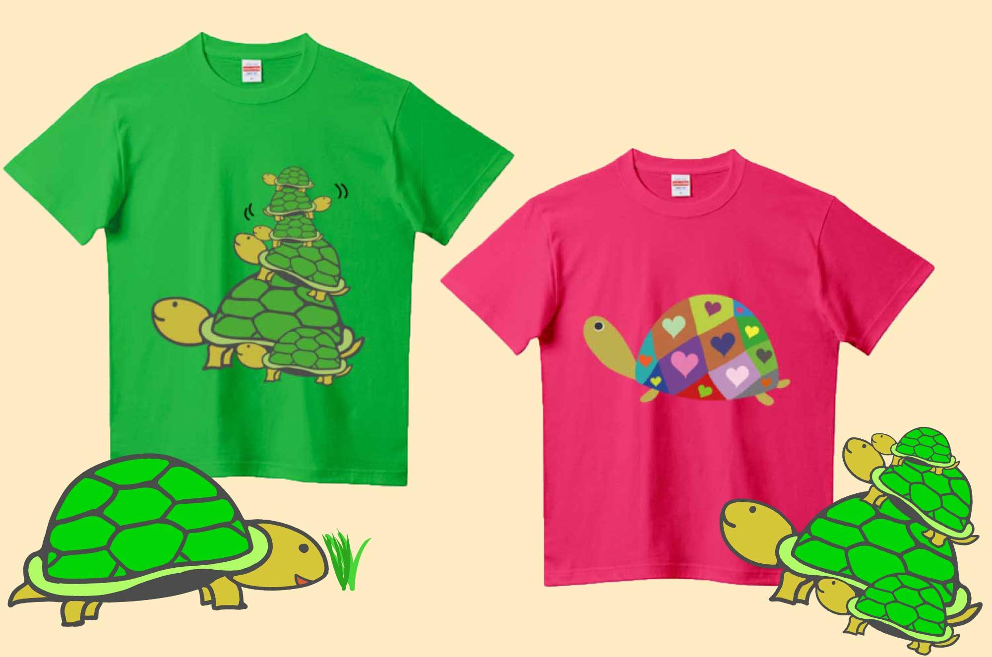 かわいい亀のTシャツがここに集結!人気のイラストT