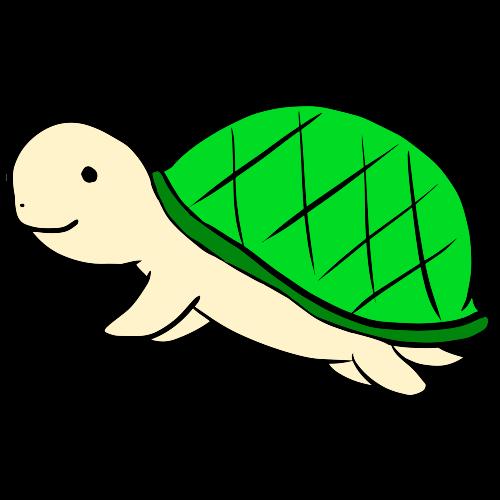 可愛い亀のイラスト