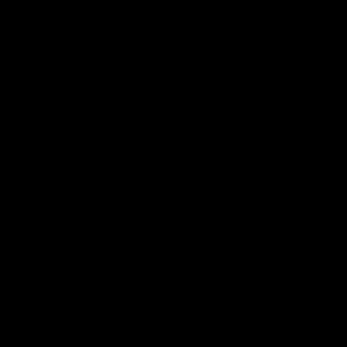 亀のシルエットアイコンのイラスト