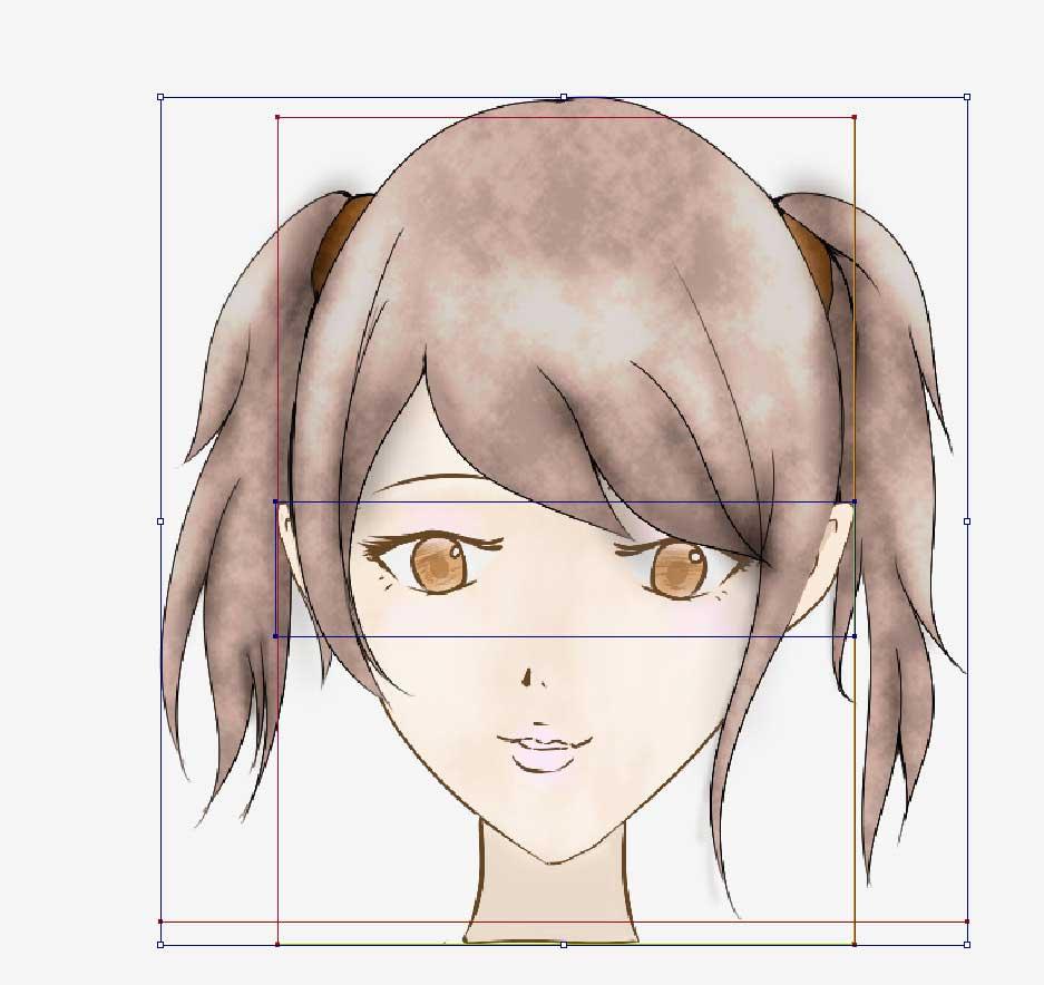 線がある女性の髪型