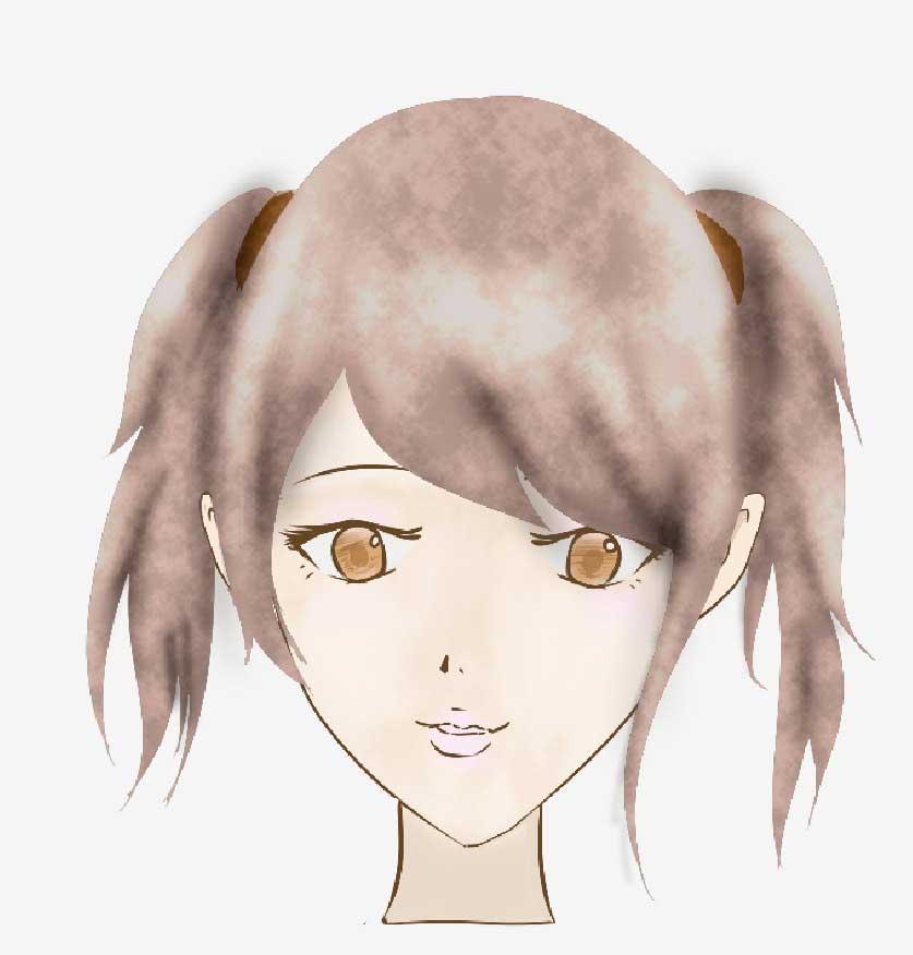 線がない女性の髪型