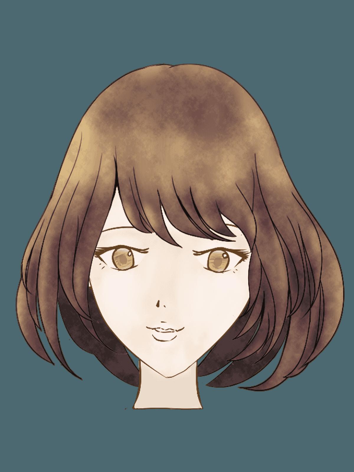 ショートボブの女性の髪型イラスト