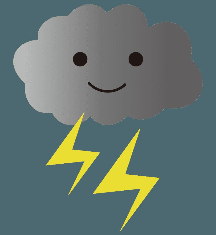 雷雲のイラスト
