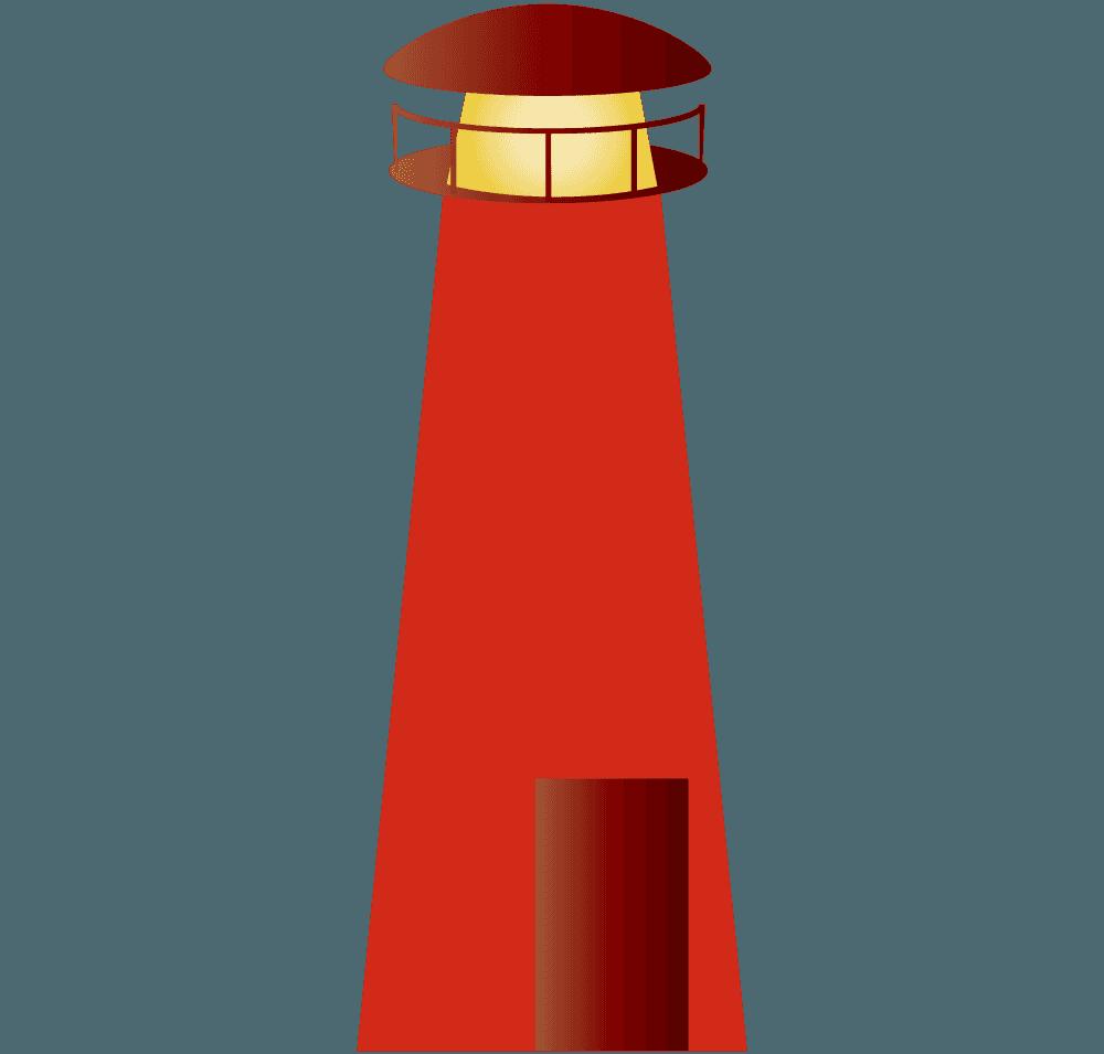 赤い灯台イラスト
