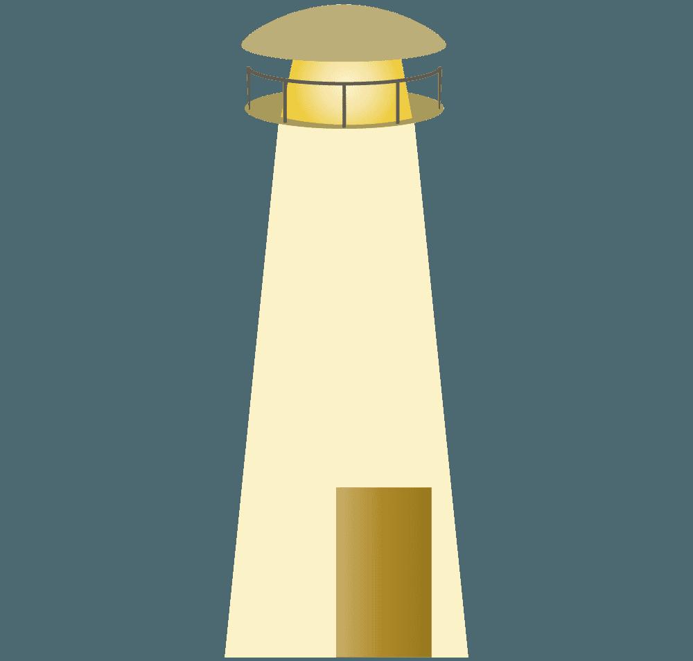 白っぽい灯台イラスト