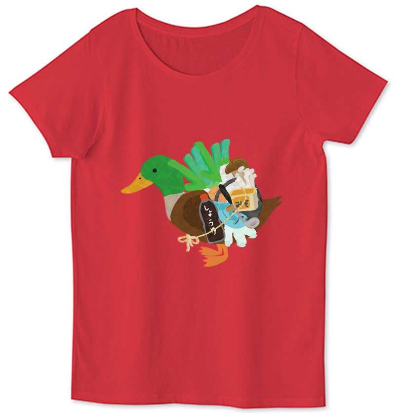 カモネギのレディースTシャツ