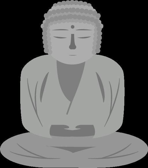 鎌倉の大仏のイラスト