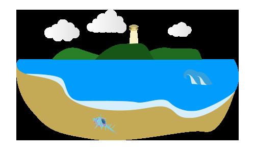 江ノ島のイラスト