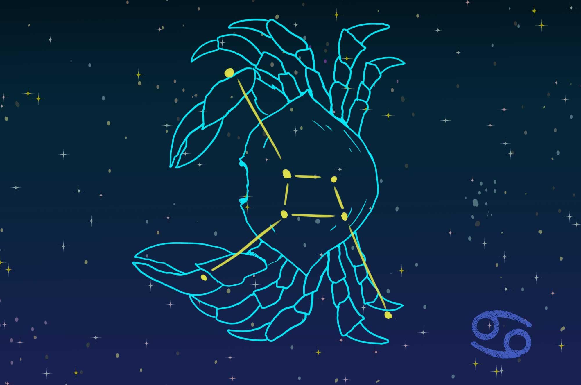 蟹座のイラスト - 可愛い星座の無料素材