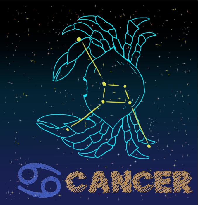 蟹座の星座カードイラスト